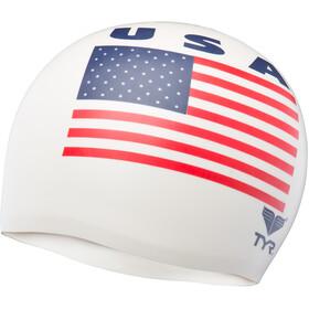 TYR USA Bonnet de bain en silicone, white